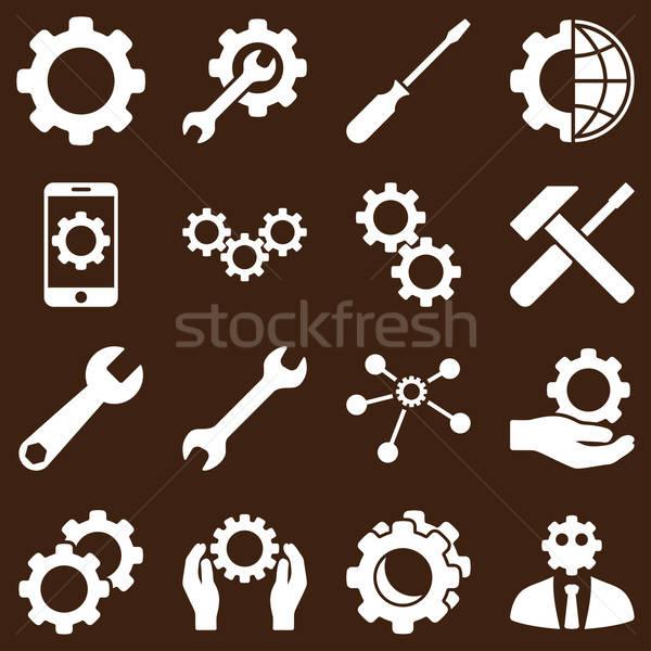 Opcje usługi narzędzia wektora stylu Zdjęcia stock © ahasoft