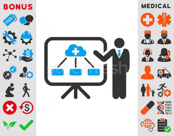 Stock photo: Health Care Report Icon