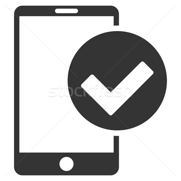 Phone Ok Flat Raster Icon Stock photo © ahasoft