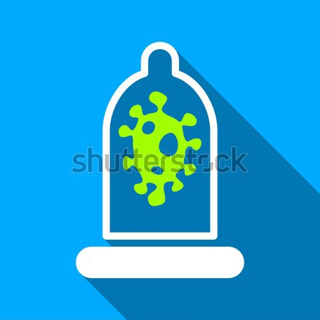 Sperm In Condom Flat Vector Icon Stock photo © ahasoft