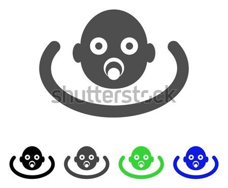 Baby Head Flat Vector Icon Stock photo © ahasoft