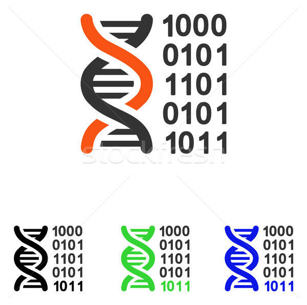 Genetical Code Flat Vector Icon Stock photo © ahasoft