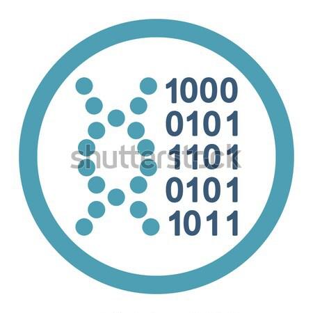 ストックフォト: DNA鑑定を · コード · ベクトル · アイコン · 実例 · スタイル