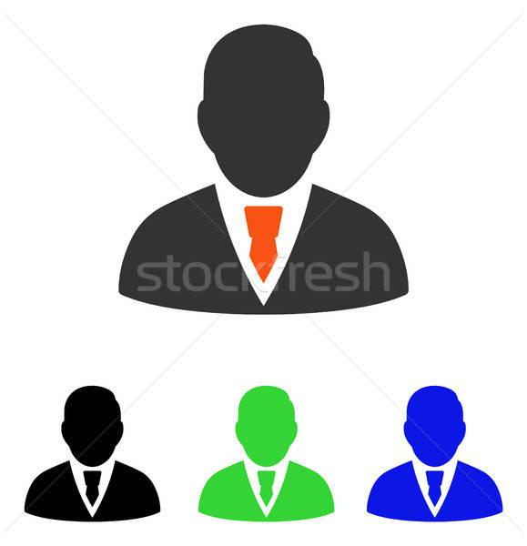 Menedzser vektor ikon illusztráció stílus ikonikus Stock fotó © ahasoft