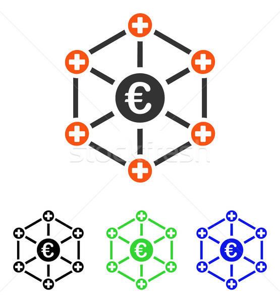 Euro Medical Network Flat Vector Icon Stock photo © ahasoft