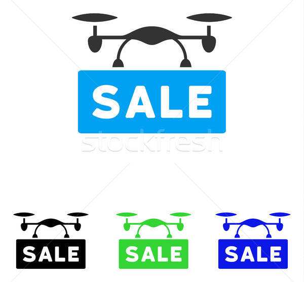 Airdrone Sale Flat Vector Icon Stock photo © ahasoft