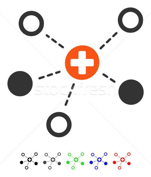 Stockfoto: Medische · links · icon · vector · pictogram · gekleurd