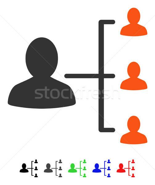 Paziente relazioni icona vettore colorato colore Foto d'archivio © ahasoft