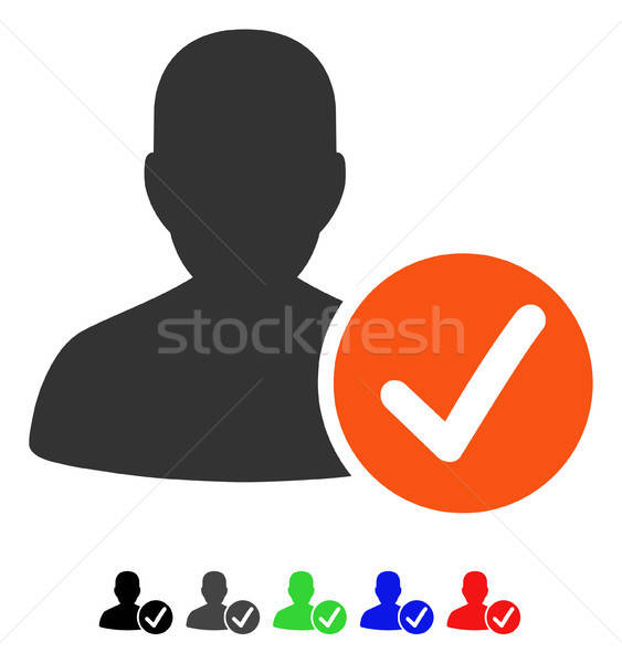 Valid Patient Flat Icon Stock photo © ahasoft