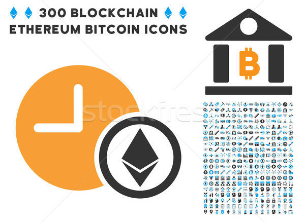 Ethereum Credit Clock Flat Icon with Stock photo © ahasoft