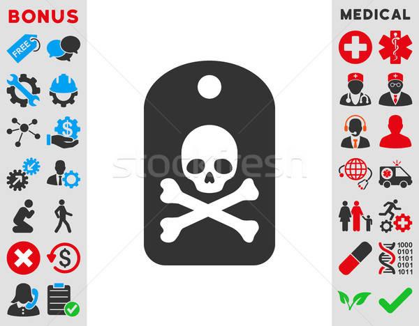 ölüm etiket ikon vektör stil simge Stok fotoğraf © ahasoft