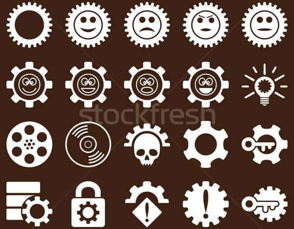 Herramientas sonrisa artes iconos vector establecer Foto stock © ahasoft