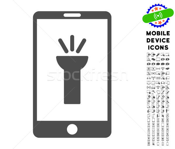 Mobile Torch App Icon with Set Stock photo © ahasoft