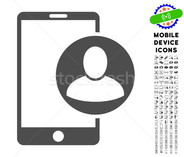 Phone User Profile Icon with Set Stock photo © ahasoft