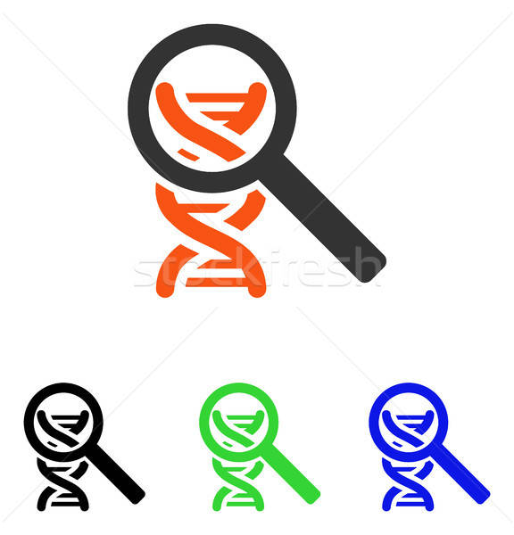 Explore DNA Flat Vector Icon Stock photo © ahasoft