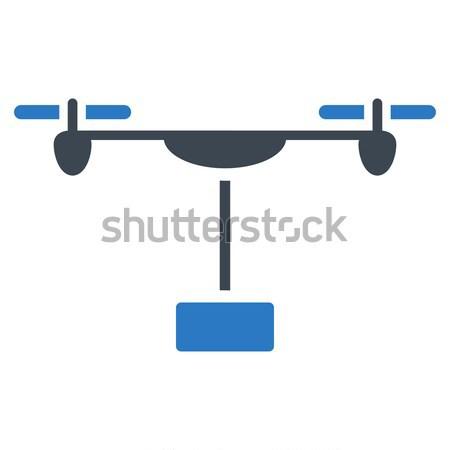 Drone Shipment Flat Icon Stock photo © ahasoft
