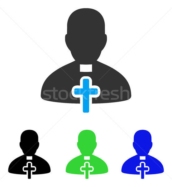 Catholic Priest Flat Icon Stock photo © ahasoft
