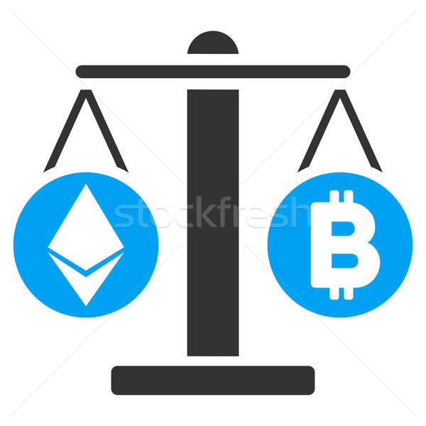 Cryptocurrency Weight Flat Icon Stock photo © ahasoft