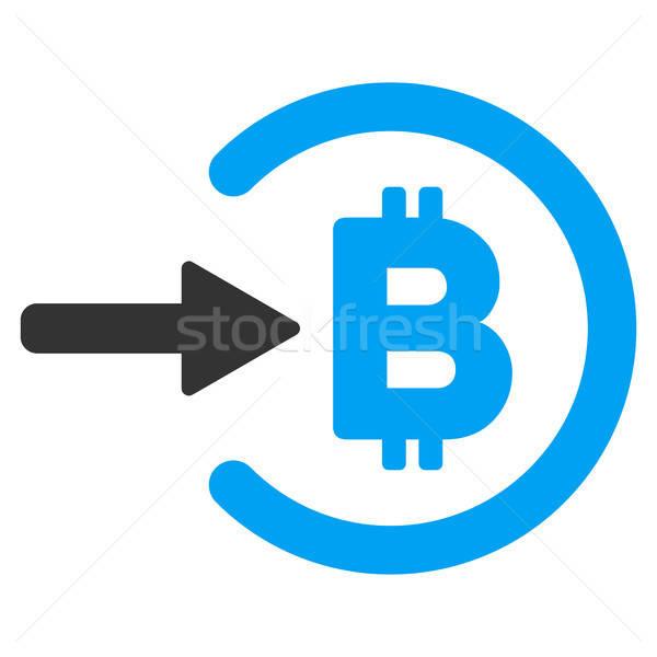 Bitcoinの 収入 アイコン ベクトル アプリケーション Webデザイン ストックフォト © ahasoft