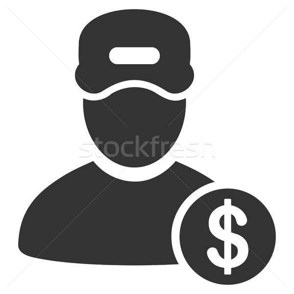 Ragazzo stipendio icona stile grafica grigio Foto d'archivio © ahasoft
