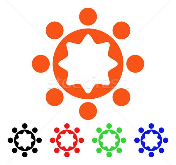 Szövetség vállalat vektor ikon stílus ikonikus Stock fotó © ahasoft