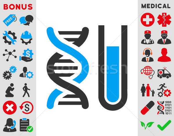 Genético análise ícone vetor estilo símbolo Foto stock © ahasoft