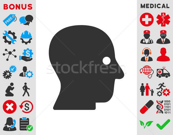 тихий голову икона вектора стиль символ Сток-фото © ahasoft