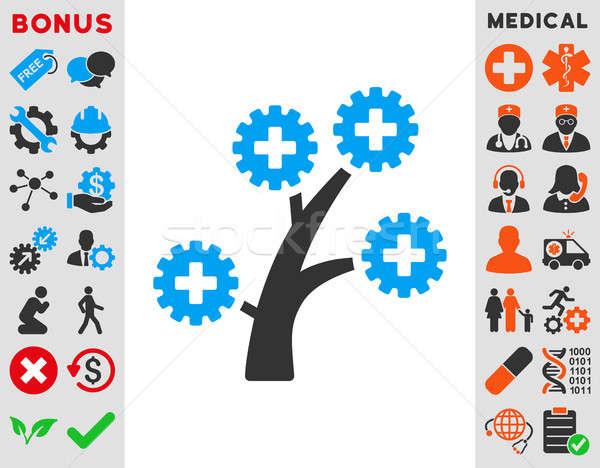 Orvosi technológia fa ikon stílus szimbólum Stock fotó © ahasoft