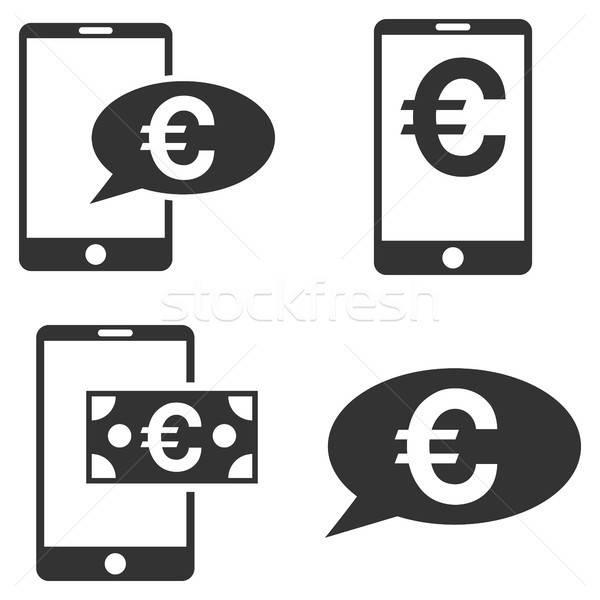 евро мобильных баланса вектора коллекция Сток-фото © ahasoft