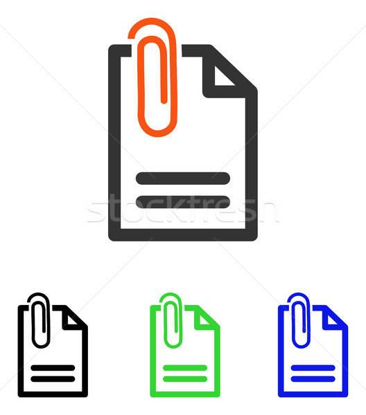 文書 ベクトル アイコン 実例 スタイル ストックフォト © ahasoft