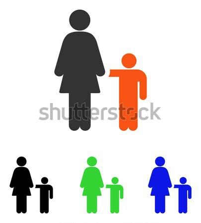 Human Couple Flat Vector Icon Stock photo © ahasoft