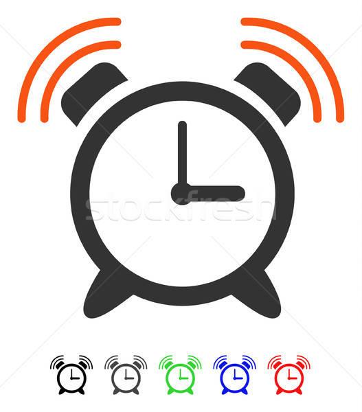 Alarm Clock Ring Flat Icon Stock photo © ahasoft