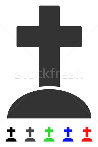 Grave icône couleur noir gris Photo stock © ahasoft