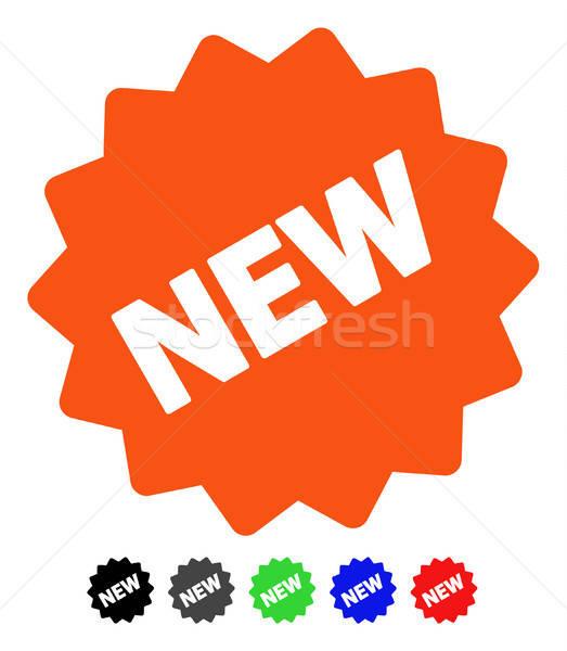 New Tag Flat Icon Stock photo © ahasoft
