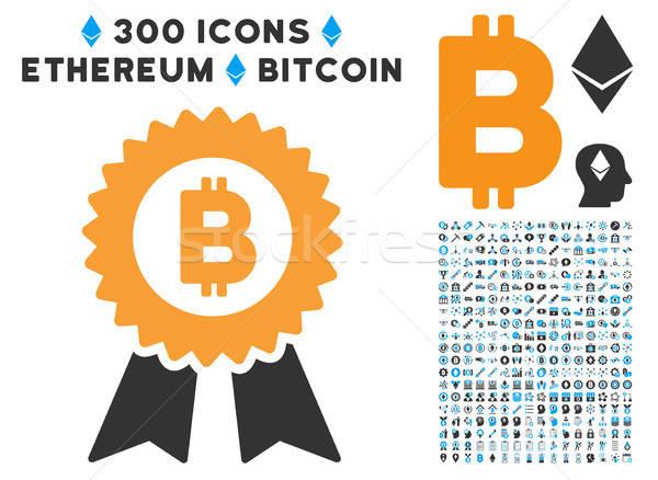 Bitcoin sello icono clip art inteligentes Foto stock © ahasoft