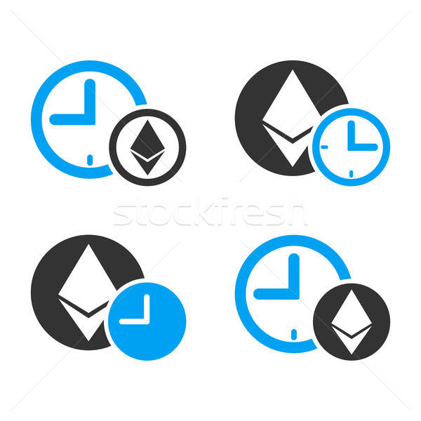 Ethereum Credit Time Vector Icon Set Stock photo © ahasoft