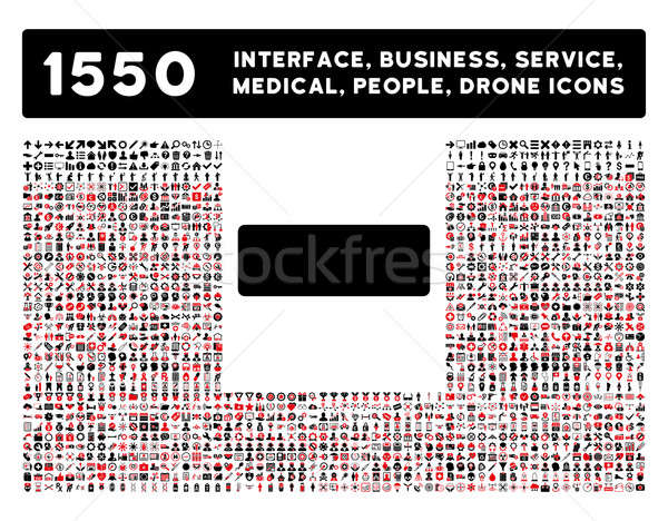 Minus Icon and More Interface, Business, Tools, People, Medical, Awards Flat Glyph Icons Stock photo © ahasoft