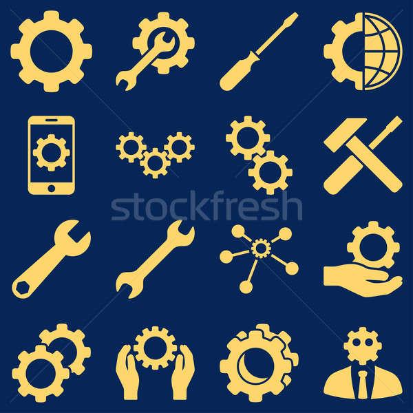 Seçenekleri hizmet araçları stil semboller Stok fotoğraf © ahasoft