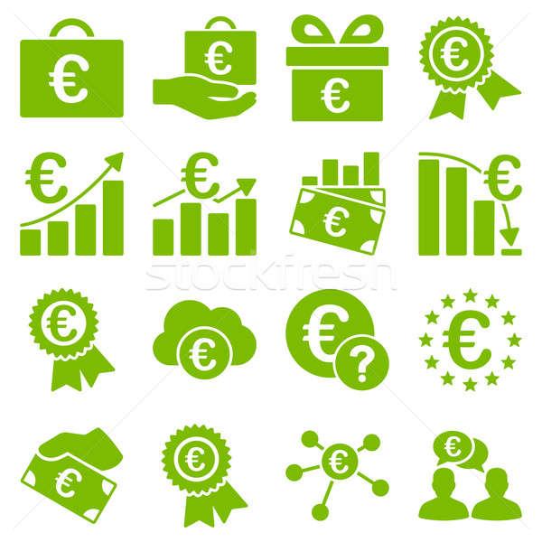 Euro bankügylet üzlet szolgáltatás szerszámok ikonok Stock fotó © ahasoft