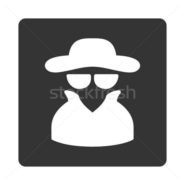 Espião ícone estilo branco cinza cores Foto stock © ahasoft