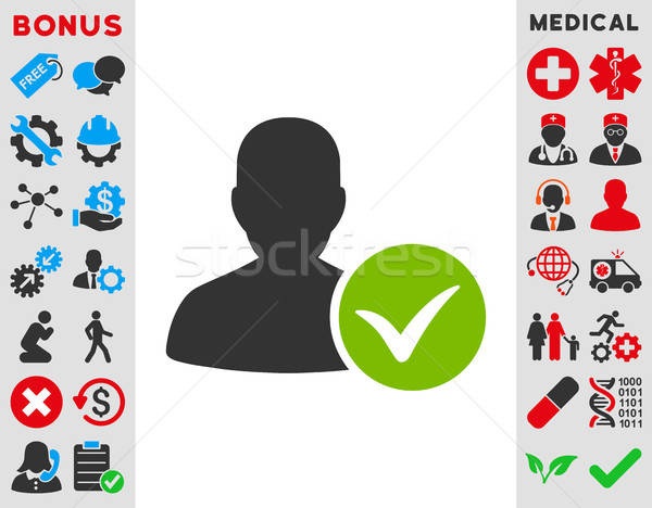 Patient Ok Icon Stock photo © ahasoft