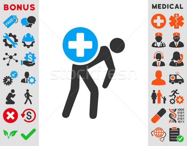 Medication Courier Icon Stock photo © ahasoft