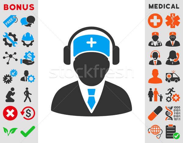 Medical Call Center Icon Stock photo © ahasoft