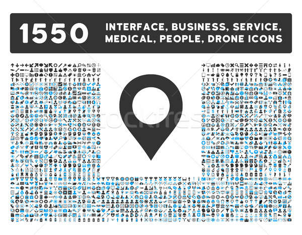 Map Marker Icon and More Interface, Business, Tools, People, Medical, Awards Flat Glyph Icons Stock photo © ahasoft