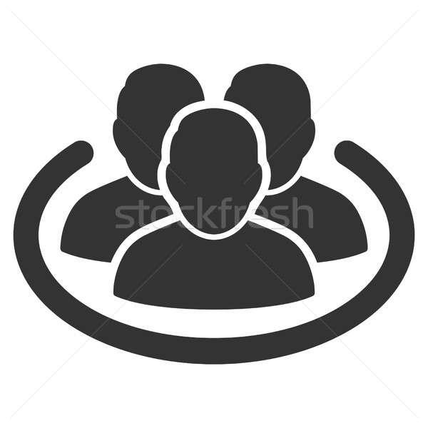 Social Ring Raster Icon Stock photo © ahasoft
