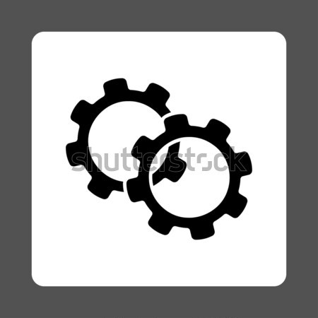 Tablet Settings Gears Flat Raster Icon Stock photo © ahasoft