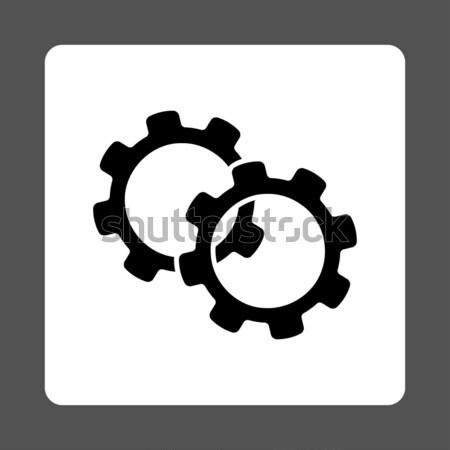 Tabletta beállítások sebességváltó ikon szürke szimbólum Stock fotó © ahasoft