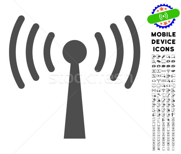 Wi-Fi Station Icon with Set Stock photo © ahasoft