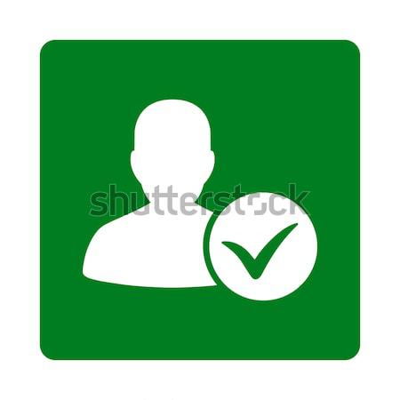 Patient Ok Flat Vector Icon Stock photo © ahasoft