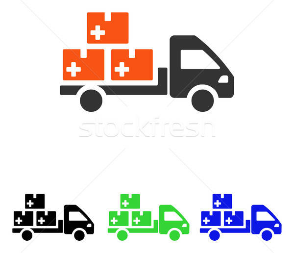 Medication Delivery Flat Vector Icon Stock photo © ahasoft